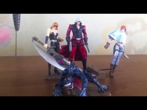 Takara KT Figure Collection Devil May Cry 2 Dante Trish Msira & Lucia HD Review