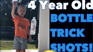 Water Bottle Flip Edition + My 4 Year old goes Dude Perfect +