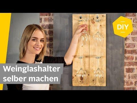 Weinglas Halterung aus Altholz selber bauen // DIY Anleitung | Roombeez – powered by OTTO