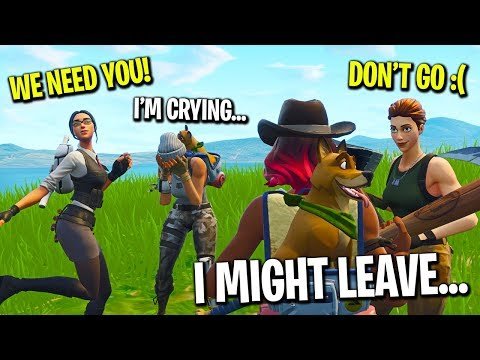 I told my Fortnite Clan i'd leave if we didn't break a world record...