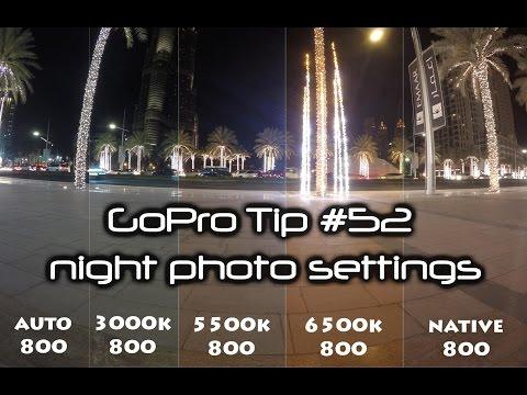 GoPro HD: Tip #52 Night Photo Mode Settings Comparison