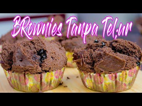 Resep Brownies Mekar Tanpa Telur Tanpa Mixer