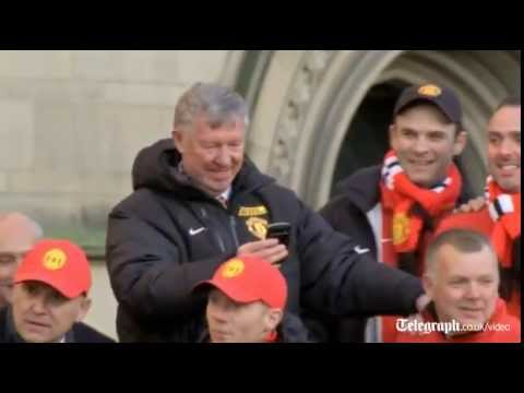 Sir Alex Ferguson the star at Manchester United parade