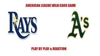 Tampa Bay Rays vs Oakland A's Wildcard Game! MLB Playoffs play by play and reaction