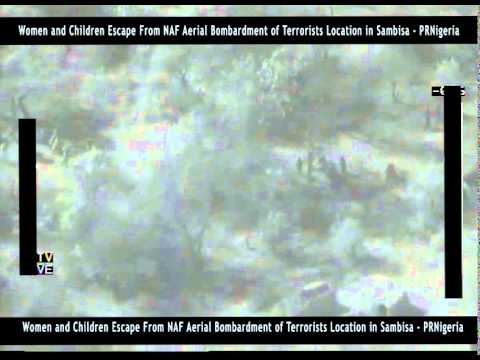 Women And Children Escape From Sambisa Forest After Aerial Bombardment Of Boko Haram Base