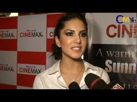 Sunny Leone Visits Cinemax To Promote Her Film Jism 2