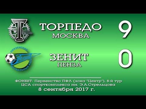 Торпедо (Москва) - Зенит (Пенза) 9:0. Обзор матча