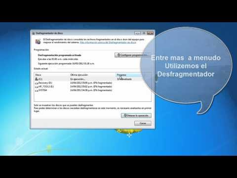 Utilizar el Desfragmentador de Disco  en Windows  7