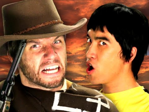 Bruce Lee vs Clint Eastwood.  Epic Rap Battles of History Season 2. Music Videos