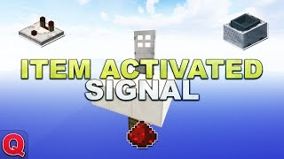 Minecraft - Item Activated Redstone Signal // Versteckter Eingang - (Quick) Tutorial 1.12