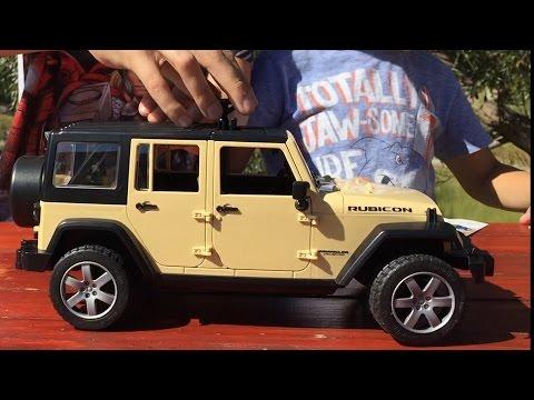 Машинки Bruder. Джип Wrangler. Игрушечная машинка для детей. Jeep Unlimited Rubicon. Bruder Toys