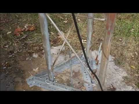 Rohn Z Antenna Tower - Winch Pole Setup CB Radio 2 Element Delta Loop Maco V-Quad