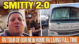 RV Tour Of Our New Home RV Living Full Time In A Class A Motorhome Named Smitty 2.0
