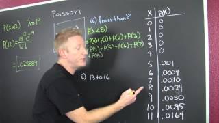 Calculating Poisson Probabilities Problem 2