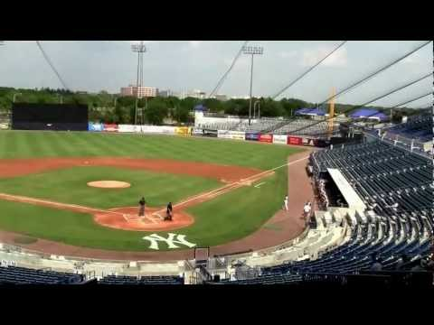 Zealand Shannon PA announcing @ Legends Field  George M Steinbrenner Field  April 2012