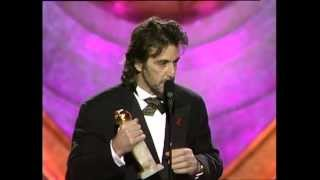 Al Pacino Wins Best Actor Motion Picture Drama - Golden Globes 1993