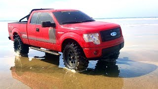 RC ADVENTURES - BEACH DRIViNG a FORD F150 FX4 PiCKUP TRUCK  in MEXICO! #ModelRealism