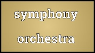 Symphony orchestra Meaning