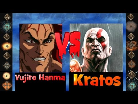 Yujiro Hanma vs Kratos Ultimate M U G E N fight 2013 Hi Res HD
