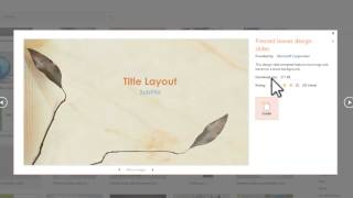How to get more template in powerpoint 2013