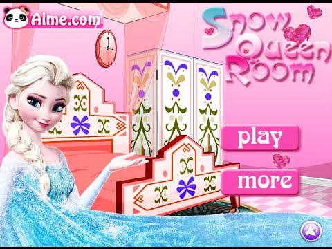 Frozen elsa games snow queen room fun online interior design games for girls kids youtube for Interior design games free online