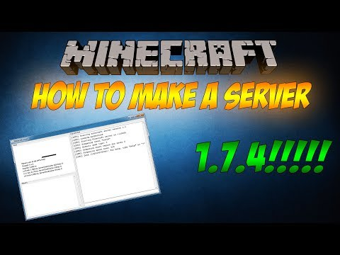 HOW TO MAKE A VANILLA MINECRAFT SERVER (1.7.4) (NO HAMACHI)