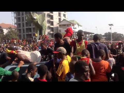 Les Guinéens dans la rue à Conakry pour célébrer la qualification du syli