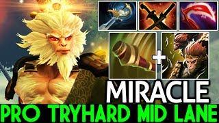 Miracle- [Monkey King] Pro Tryhard Mid Lane What a Game 7.21 Dota 2