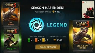 Shadow fight 3 legend league Reward| Shadow fight 3 legendary booster pack opening end season reward