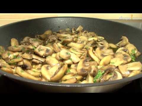 Champiñones al ajillo - Receta de cocina