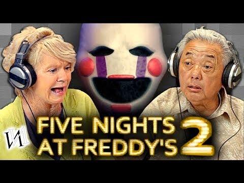 Реакция стариков на игру Five Nights at Freddy's 2   Иностранцы пенсионеры в ФНАФ 2 [ИндивИдуалист]