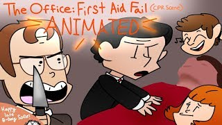 The Office US - First Aid Fail (CPR Scene) Animated
