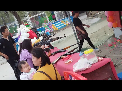 Kids Shooting AK 47 Replica 2