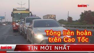 ⚡ Tin mới nhất | 4 ô tô tông liên hoàn trên đường dẫn cao tốc TP.HCM – Trung Lương