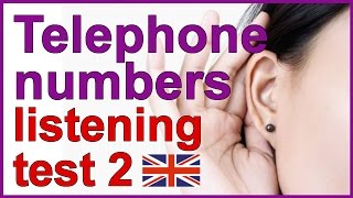 Telephone numbers | English listening test