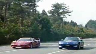Ferrari F40 vs Viper GTS vs Jaguar XJR-15 - 0-400m and 0-1000m drag race