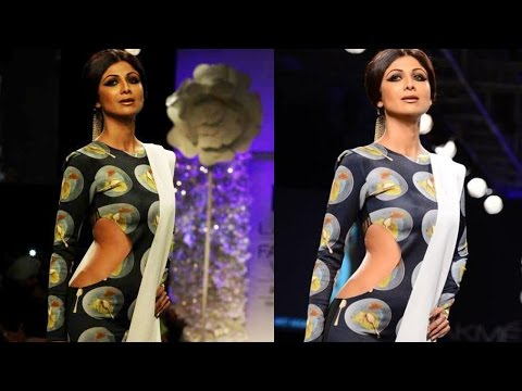 Sexy Figured Shilpa Shetty on Ramp