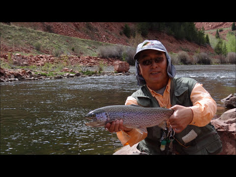 the big trout got away Frying Pan River Colorado Fly Fishing  sony hx100