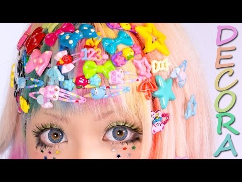 Decora Tutorial - KAWAII HAIR STYLE