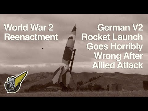 WW2 German V-2 Rocket Attack - Reenactment
