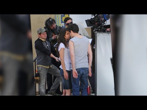 Katie Holmes Gets Up Close and Personal With a Sexy Man on Set