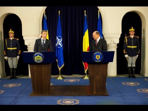 NATO Secretary General with President of Romania - Joint Press Conference