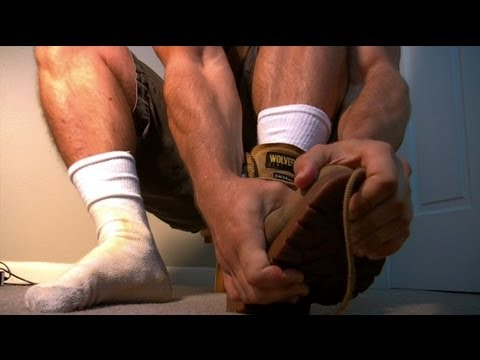 Construction Bully Makes Nerd Lick Boots And Smell Socks [man Feet Male Foot Fetish] video