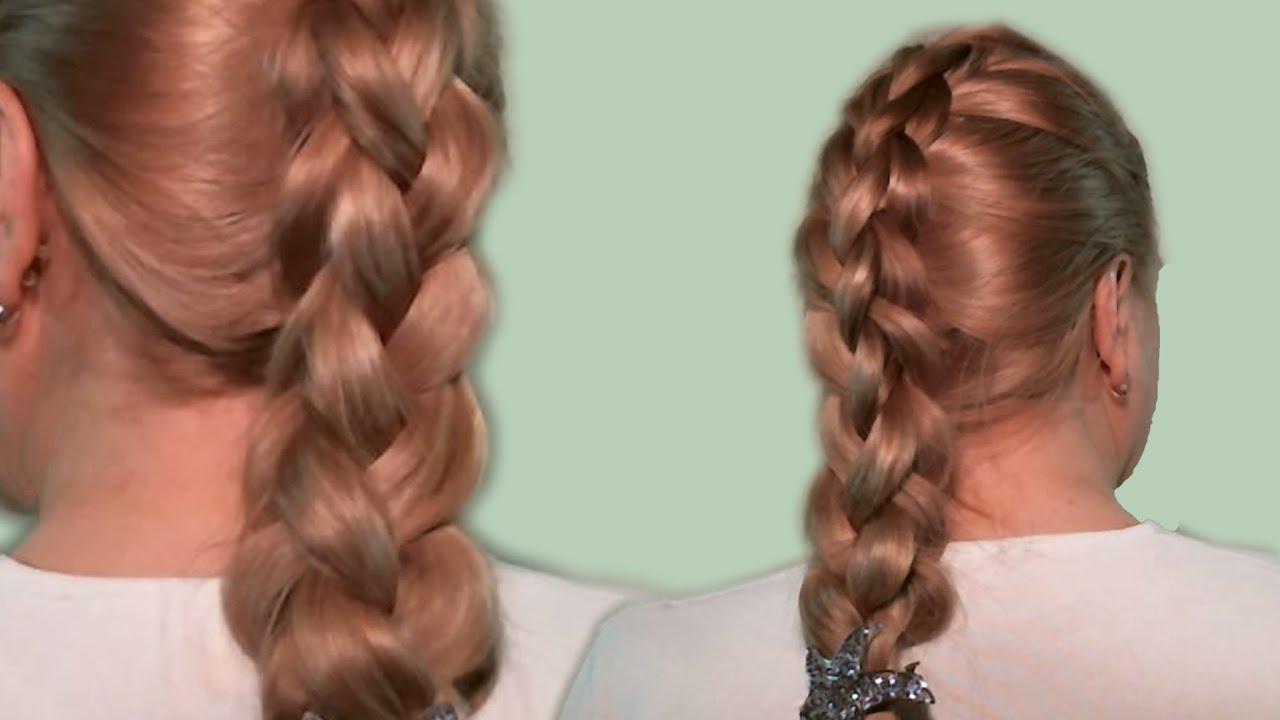 повседневные прически с косами видео