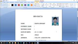 How To Make A BIO-DATA For Job Application 2018