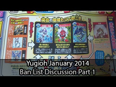 Yugioh Ban List Discussion For January 2014 Part 1