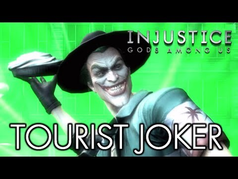 INJUSTICE: GODS AMONG US - THE JOKER 'TOURIST' COSTUME [HD] (Intro, Gameplay, Wager Battle, Super Move, Outro, 3D Model)