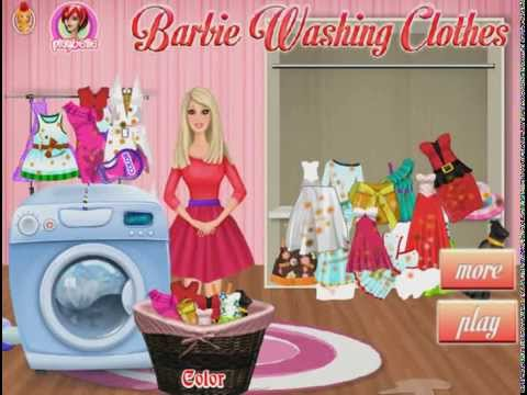 Barbie Games To Play - Online Barbie Washing Clothes Games