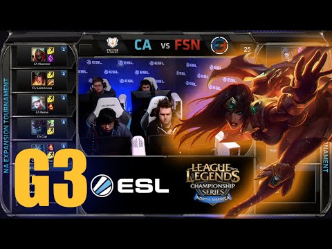 Curse Academy vs Team Fusion | Game 3 Round 2 NA LCS Expansion Tournament | CA vs FSN G3 60FPS
