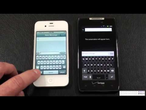 "Apple iPhone 4S vs Motorola Droid RAZR Part 2 ""Face Off"""